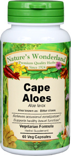 Cape Aloes Capsules - 775 mg, 60 Veg Capsules  (Aloe ferox)