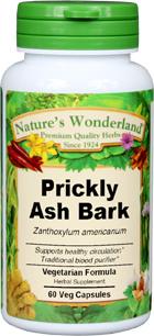 Prickly Ash Bark Capsules - 425 mg, 60 Veg Capsules (Zanthoxylum spp.)