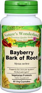 Bayberry Bark of Root Capsules - 575 mg, 60 Veg Capsules (Myrica cerifera)
