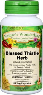 St. Benedict's Herb Capsules - 350 mg, 60 Veg Capsules (Cnicus benedictus)