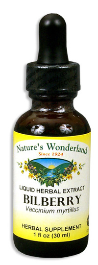 Bilberry Liquid Extract, 1 fl oz / 30ml (Nature's Wonderland)