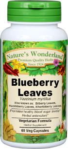 Huckleberry Leaves Capsules - 525 mg, 60 Veg Capsules (Vaccinium myrtillus)