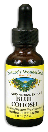 Blue Cohosh Root Extract, 1 fl oz / 30ml (Nature's Wonderland)