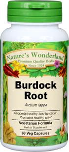 Burdock Root, Organic Capsules - 625 mg, 60 Veg Capsules (Arctium lappa)