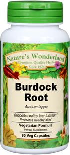 Burdock Root Capsules - 625 mg, 60 Veg Capsules (Arctium lappa)