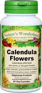 Calendula Flowers Capsules - 425 mg, 60 Veg Capsules (Calendula officinalis)
