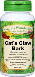 Cat's Claw Bark Capsules - 575 mg, 60 Veg Capsules (Uncaria tomentosa)