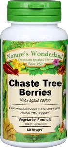 Chaste Tree Capsules - 550 mg,  60 Vcaps™ (Vitex agnus- castus)