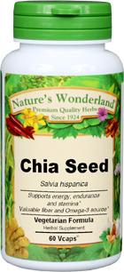 Chia Seed Capsules - 650 mg, 60 Vcaps™ (Salvia hispanica)