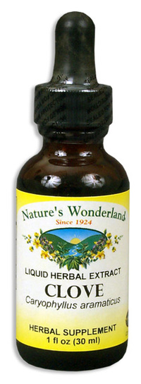Cloves Liquid Extract - Syzgium aromaticum, 1 fl oz / 30ml (Nature's Wonderland)