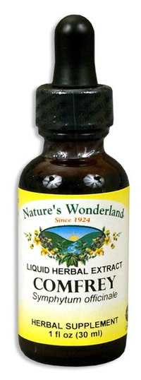Comfrey Root Extract - Topical, 1 fl oz / 30ml (Nature's Wonderland)