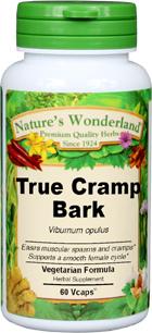 Cramp Bark Capsules - 375 mg, 60 Veg Caps (Viburnum opulus)