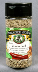 Cumin Seed - Whole, 2.0 oz jar