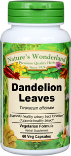 Dandelion Leaves - 550 mg, 60 Vcaps™(Taraxicum officinale)
