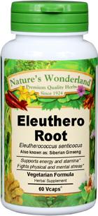 Eleuthero Root Capsules, Organic - 500 mg, 60 Vcaps™ (Eleutherococcus senticocus)