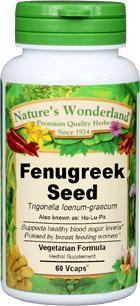 Fenugreek Seed Capsules - 800 mg, 60 Vcaps™ (Trigonella foenum-graecum)