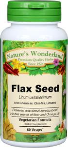 Flax Seed Capsules - 600 mg, 60 Vcaps™ (Linum usitatissimum)