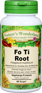 Fo-Ti Root Capsules, 675 mg, 60 Vcaps™ (Polygonum multiflorum)
