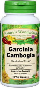 Garcinia Cambogia Standardized Extract - 425 mg, 60 Veg Capsules