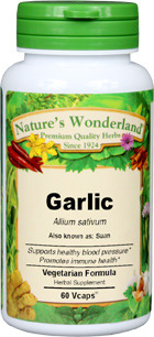 Garlic Capsules - 650 mg, 60 Veg Capsules (Allium sativum)