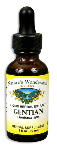 Gentian Liquid Extract, 1 fl oz  / 30ml (Nature's Wonderland)