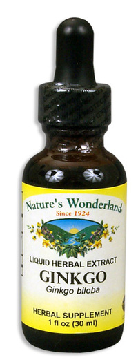 Ginkgo Liquid Extract, 1 fl oz  / 30ml (Nature's Wonderland)