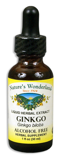 Ginkgo Liquid Extract, Alcohol Free, 1 fl oz / 30ml (Nature's Wonderland)