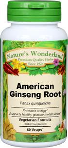 Ginseng Root Capsules, American - 650 mg, 60 Vcaps™ (Panax quinquefolium)