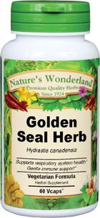 Golden Seal Herb Capsules - 475 mg, 60 Veg Capsules  (Hydrastis canadensis)