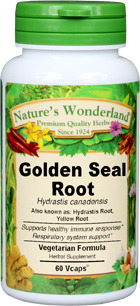 Golden Seal Root Capsules - 650 mg, 60 Vcaps™ (Hydrastis canadensis)