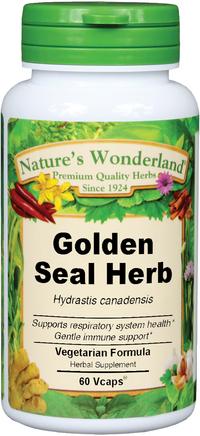 Yellow Root Capsules - 650 mg, 60 Veg Capsules  (Hydrastis canadensis)