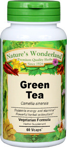 Green Tea Capsules - 650 mg, 60 Vcaps™ (Camellia sinensis)
