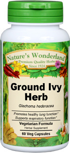 Ground Ivy Herb Capsules - 425 mg, 60 Veg Capsules (Glechoma hederacea)