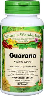 Brazilian Cocoa Capsules - 700 mg, 60 Veg Capsules (Paullinia cupana)