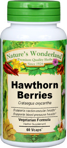 Hawthorn Berries Capsules - 625 mg, 60 Veg Capsules  (Crataegus oxyacantha)