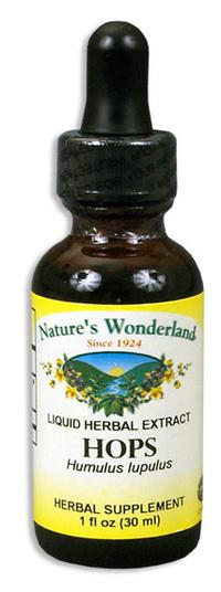 Hops Liquid Extract, 1 fl oz / 30ml (Nature's Wonderland)