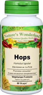 Hops Capsules - 425 mg, 60 Veg Capsules (Humulus lupulus)