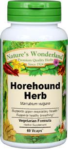 Horehound Capsules - 400 mg, 60 Veg Capsules (Marrubium vulgare)