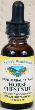 Horse Chestnut Liquid Extract, 1 fl oz / 30ml (Nature's Wonderland)