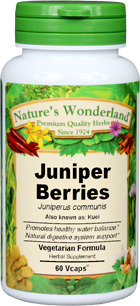 Juniper Berries Capsules - 475 mg, 60 Veg Capsules (Juniperus communis)