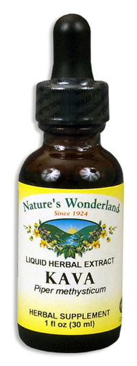 Kava Root Liquid Extract, 1 fl oz / 30ml  (Nature's Wonderland)