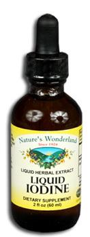 Liquid Iodine (Potassium Iodide) - 150 mcg, 2 fl oz / 60 ml (Nature's Wonderland)