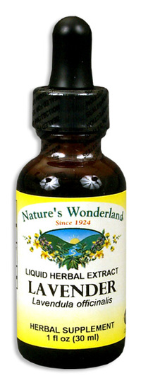 Lavender Flowers Liquid Extract, 1 fl oz / 30 ml (Nature's Wonderland)