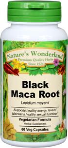 Maca Root, Black, Capsules Organic, 675 mg - 60 Veg Caps (Lepidium meyenii)