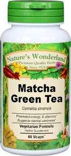 Matcha Green Tea Capsules - 575 mg, 60 Veg Capsules (Camellia sinensis)