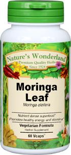 Moringa Leaf Capsules - 475 mg, 60 Veg Capsules (Moringa oleifera)