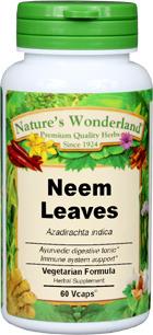 Neem Leaf Capsules - 575 mg, 60 Veg Capsules (Azadirachta indica)