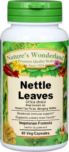 Stinging Nettle Leaf Capsules - 525 mg, 60 Veg Capsules (Urtica dioica)