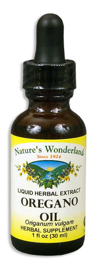 Oregano Oil - Alcohol Free, 1 fl oz / 30 ml  (Nature's Wonderland)