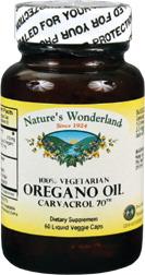 Oregano Oil Capsules - 510 mg, 60 liquid veggie caps  (Nature's Wonderland)